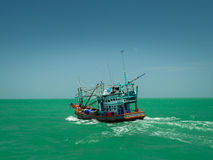 Thai fishing boat. Pattaya thailand Royalty Free Stock Image