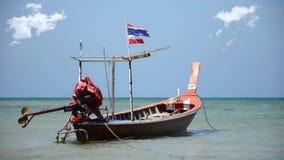 Thai fishing boat stock video