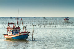 Thai fishing boat used as a vehicle for finding fish Royalty Free Stock Image