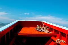 Thai fishing boat used as a vehicle for finding fish Stock Photos