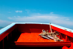 Thai fishing boat used as a vehicle for finding fish Royalty Free Stock Photography