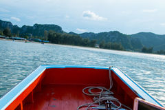 Thai fishing boat used as a vehicle for finding fish Royalty Free Stock Photo