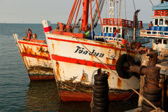 Thai fishing boats Royalty Free Stock Images