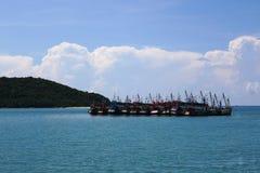 Thai fishing boats Stock Image