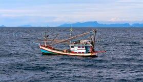 Thai fishing schooner at sea Stock Photo