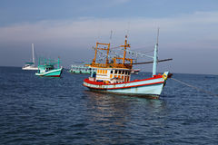 Thai fishing schooner Stock Photos