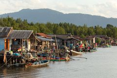 Thai fishing village Stock Photography