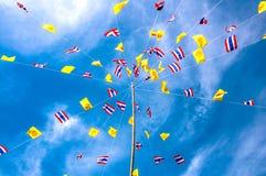 Thai flag blue sky Royalty Free Stock Photos