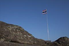 Thai flag on blue sky Royalty Free Stock Photo