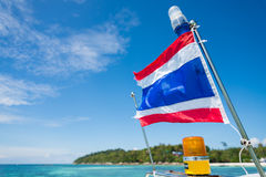 Thai flag on the boat Royalty Free Stock Images
