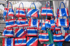 Thai flag colored bags Stock Images