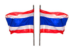 Thai flag. Isolated white background Stock Images