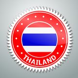 Thai flag label Stock Photo