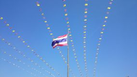 Thai Flag, Nation Flag, Tricolor Flag # 02 Royalty Free Stock Image