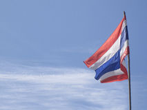 Thai flag of thailand with blue sky Stock Image