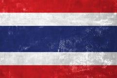 Thai Flag. Thailand - Thai Flag on Old Grunge Texture Background stock photos