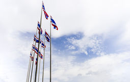Thai flag of Thailand Royalty Free Stock Photo