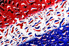 Thai flag under water droplet background Royalty Free Stock Photos