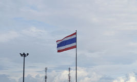 Thai flag waving against sky Stock Photos