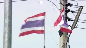 Thai flag waving