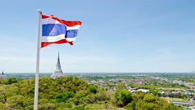 Thai flag waving in the wind Stock Image