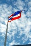 Thai flage on blue sky Royalty Free Stock Photo