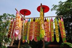 thai flaggalannatempel Royaltyfria Bilder