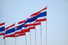 Thai flags stock photography