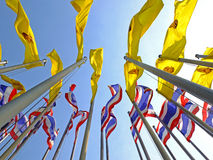 Thai Flags buddha flags Stock Images