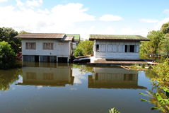 thai flod Royaltyfri Fotografi