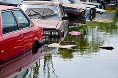 Thai flood. Flood thailand october danger water royalty free stock photography