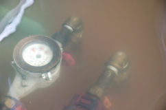 Thai flood crisis  at Charoen Krung road Royalty Free Stock Images