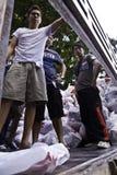 Thai flood crisis situation royalty free stock image