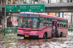 Thai flood hits Central of Thailand Stock Photography