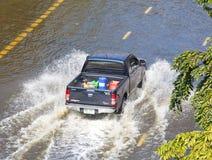 Thai flood hits Central of Thailand Stock Photos