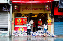 Thai flood hits Central of Thailand Royalty Free Stock Image