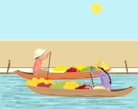thai flottörhus marknad vektor illustrationer