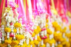 Thai flower garlands Royalty Free Stock Photo