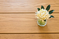 Thai flower in glass vase. On the table royalty free stock images