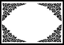 Thai flower pattern background Royalty Free Stock Images