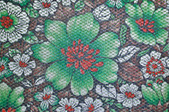 Thai Flower Pattern fabric Royalty Free Stock Images