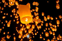 Thai Flying Sky Lantern Stock Image
