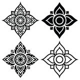 Thai folk art pattern - flower shape Stock Photo