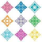 Thai folk art pattern - flower shape Royalty Free Stock Image