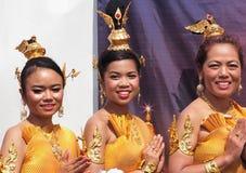 Thai Folk Dancers Royalty Free Stock Images