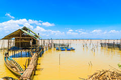 Thai folk fishing. Royalty Free Stock Photos