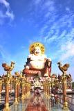 thai folk och tempel Arkivfoton