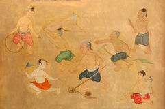 Thai folk Painting Royalty Free Stock Photo