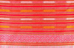 Thai folk textile south style Royalty Free Stock Images