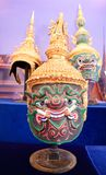 Thai folklore mask. On display during the 13th annual Songkran Festival in Thai Town Los Angeles CA Stock Images